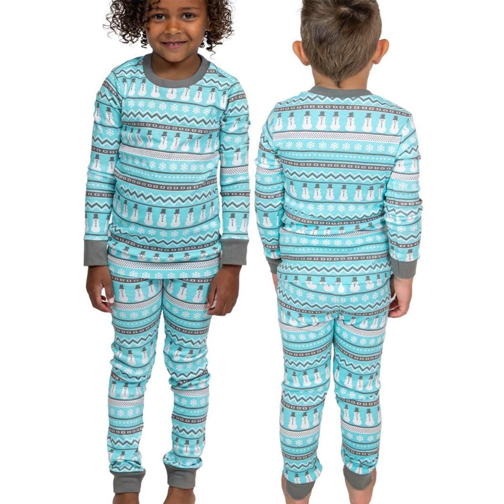 Lazy One Kids two pc PJ Set - Nordic Snowman