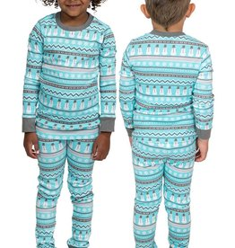 Lazy One Kids 2pc PJ Set - Nordic Snowman