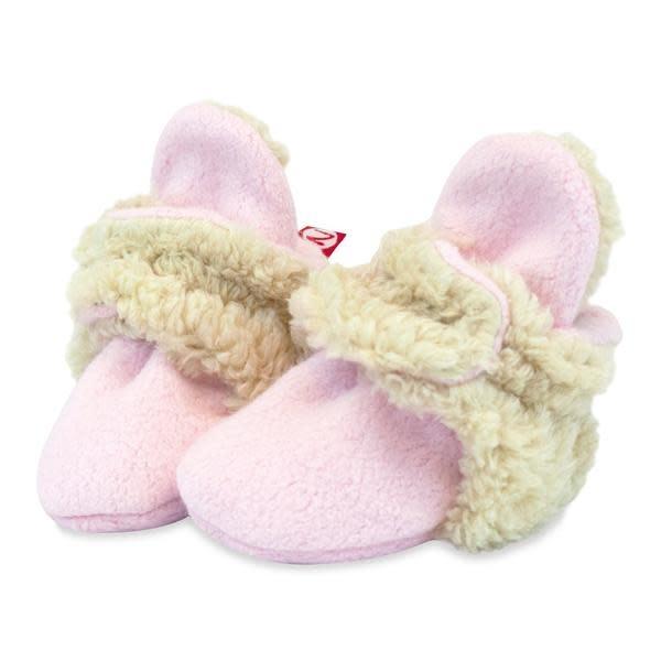 Zutano Cozie Furry Baby Bootie - Light Pink 6M