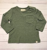 Me + Henry Green Stripe LS Top 12-18M