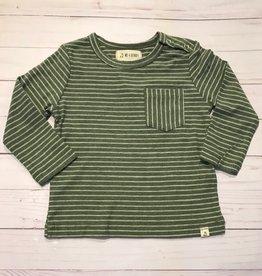 Me + Henry Green Stripe LS Top 12-18M