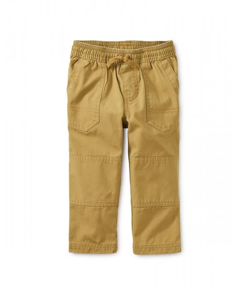Tea Collection Baby Boy Canvas Explorer Pants - Fennel 3-6M