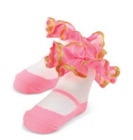 Mud Pie Sock Pink Ric Rac Sock