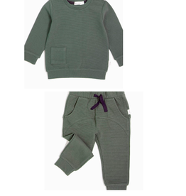 Miles Baby Forest Knit Top and Pant Set