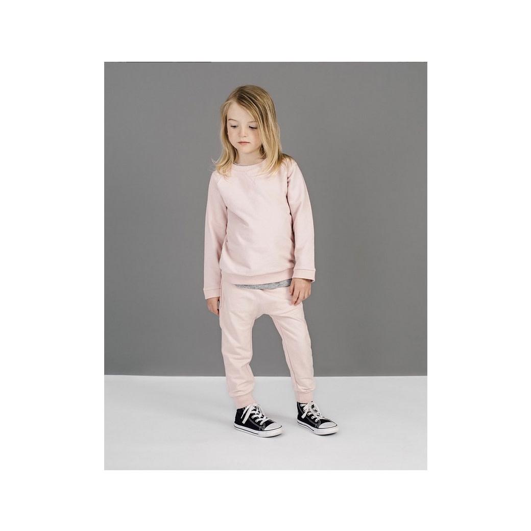Miles Baby Light Pink Crew Neck Sweater & Jogger Set - Toddler