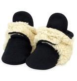 Zutano Cozie Furry Baby Bootie - Black