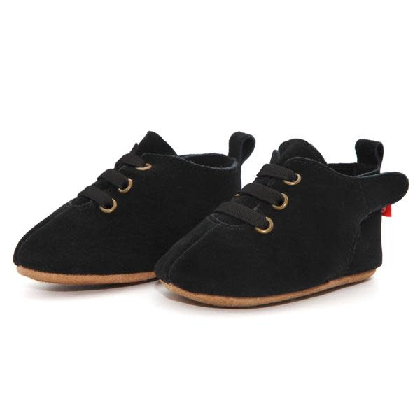 Zutano Black Suede Leather Oxford Baby Shoe