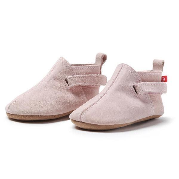 Zutano Dusty Pink Suede Baby Shoe