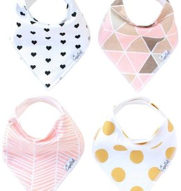 Copper Pearl Bibs - Blush Set - 4 pack