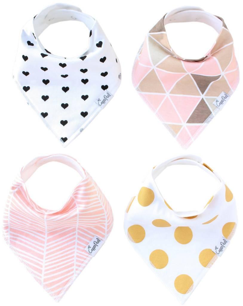 Copper Pearl Bibs - Blush Set - 4 pack
