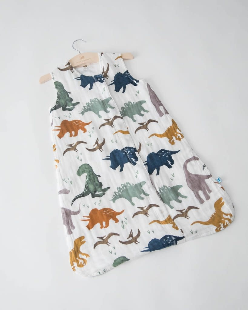 Little Unicorn Cotton Muslin Sleep Bag Small - Dino Friends