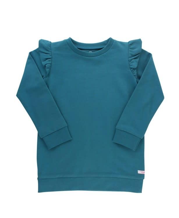 RuffleButts Ethereal Blue Sweatshirt Tunic