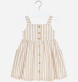 Mayoral Dress Girl - Sand Stripes 4T