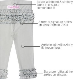 RuffleButts Ruffle Leggings, Grey
