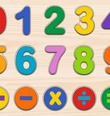 Peter Pauper Press Numbers Kids' Wood Puzzle