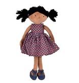 Tikiri Toys Leota - Black Hair with Purple Dress Doll