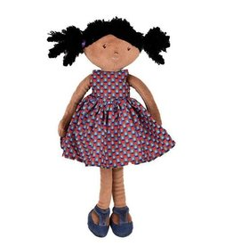 Tikiri Toys Leota - Black Hair with Purple Dress Doll