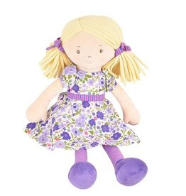 Tikiri Toys Peggy Doll - Blond Hair with Lilac and Pink Dress