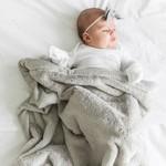 Saranoni Receiving Blanket (30'' x 40'') Feather Lush