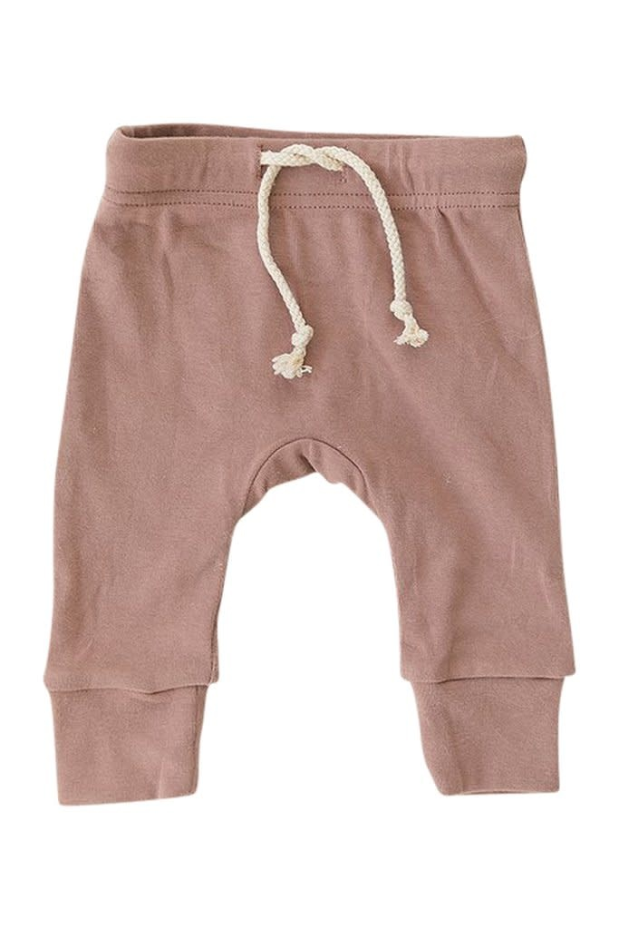 Mebie Baby Cotton Blush Jogger Pants
