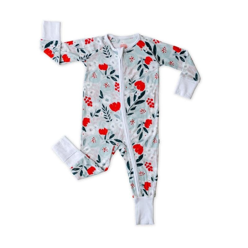 Little Sleepies Convertible Romper/Sleeper Winter Floral 18-24M
