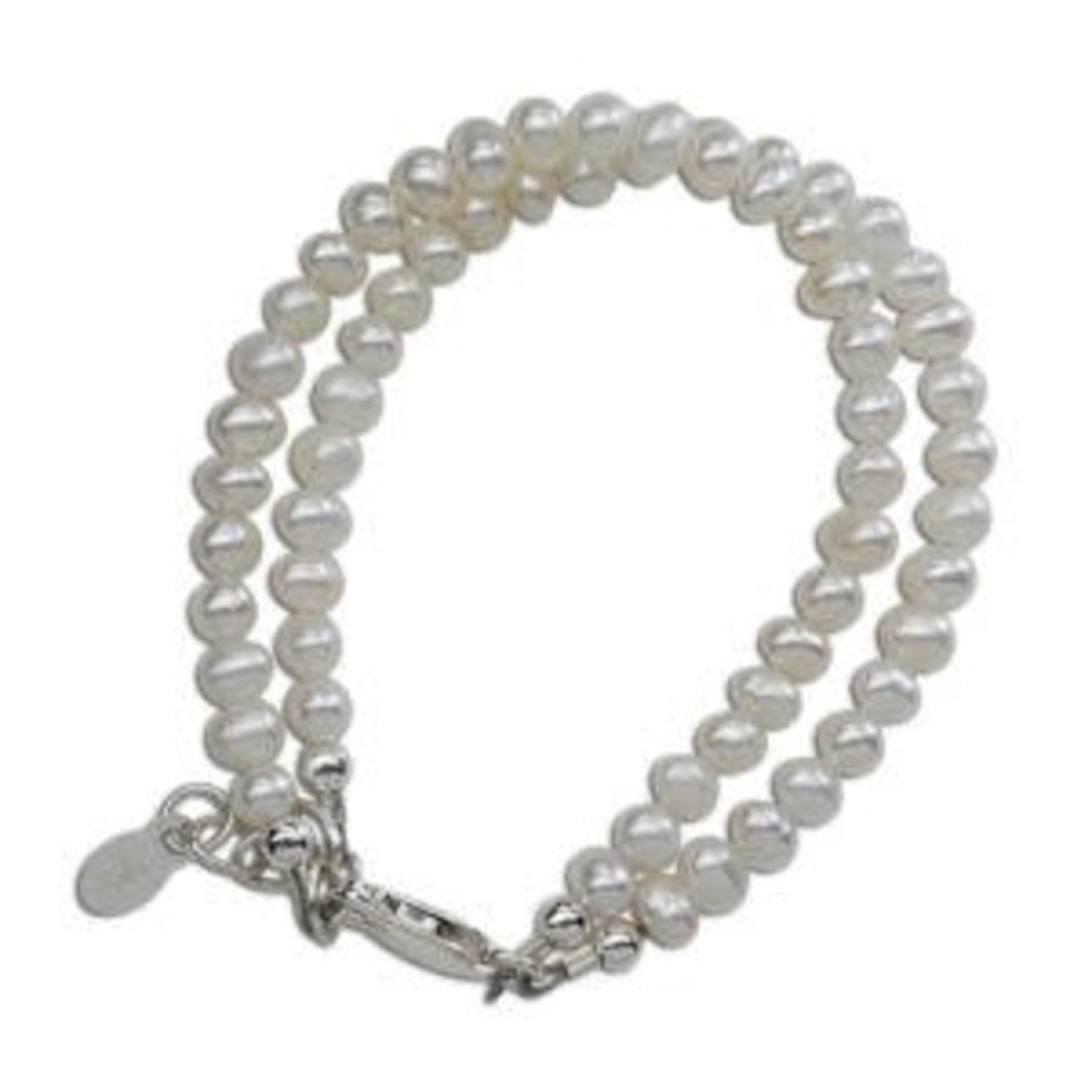 Cherished Moments Elizabeth - (M) Double White Freshwater Pearls