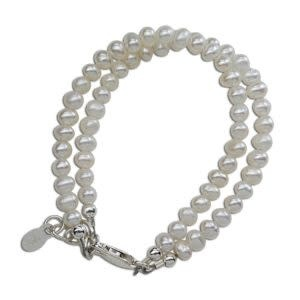 Cherished Moments Elizabeth - (S) Double White Freshwater Pearls