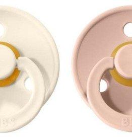 Bibs Pacifier 2 PK Blush / Ivory Size 2
