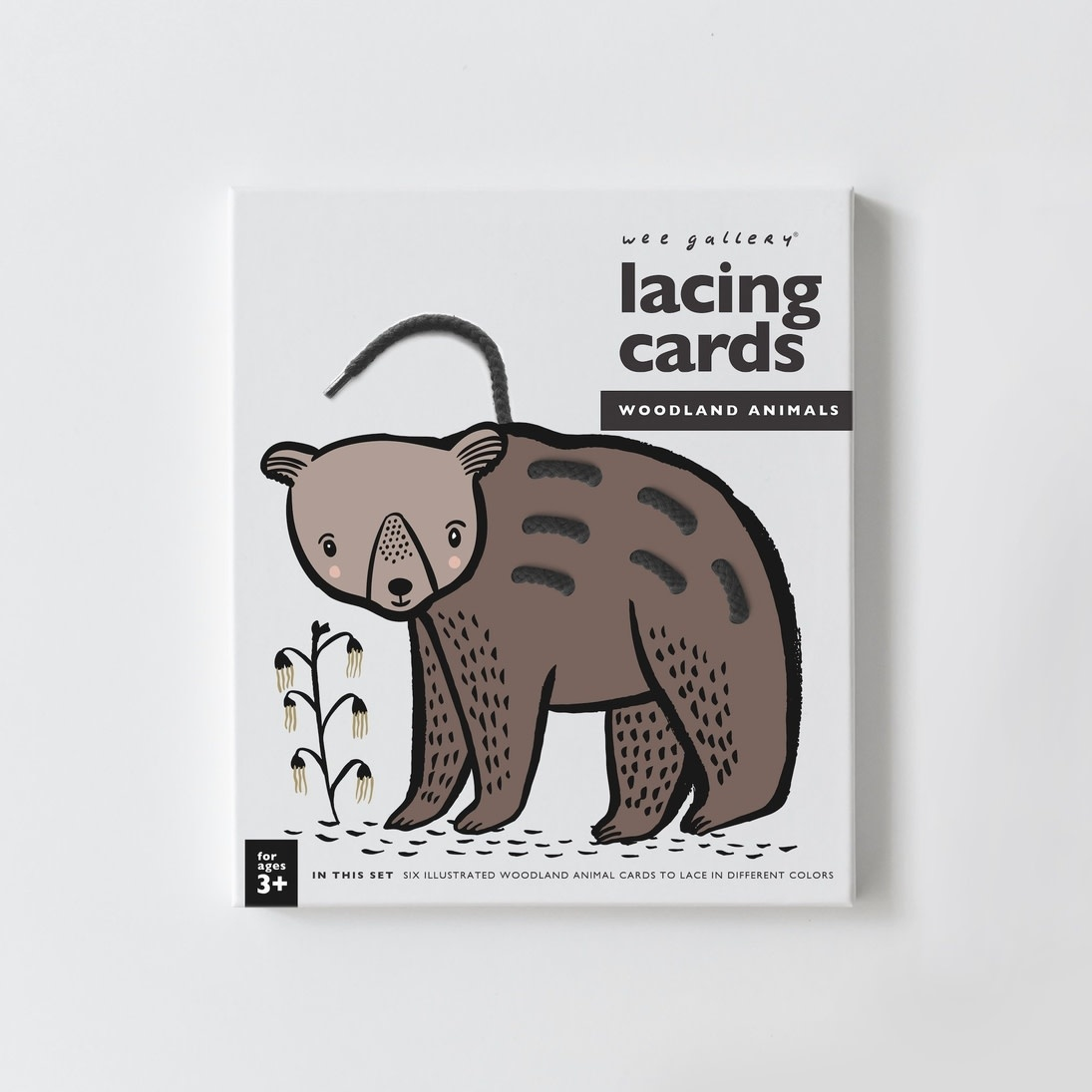 Wee Gallery Lacing Cards, Woodland Animals