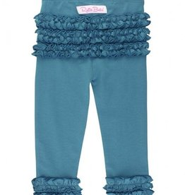 RuffleButts Ruffle Leggings, Ethereal Blue 0-6M