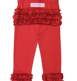 RuffleButts Ruffle Leggings Red