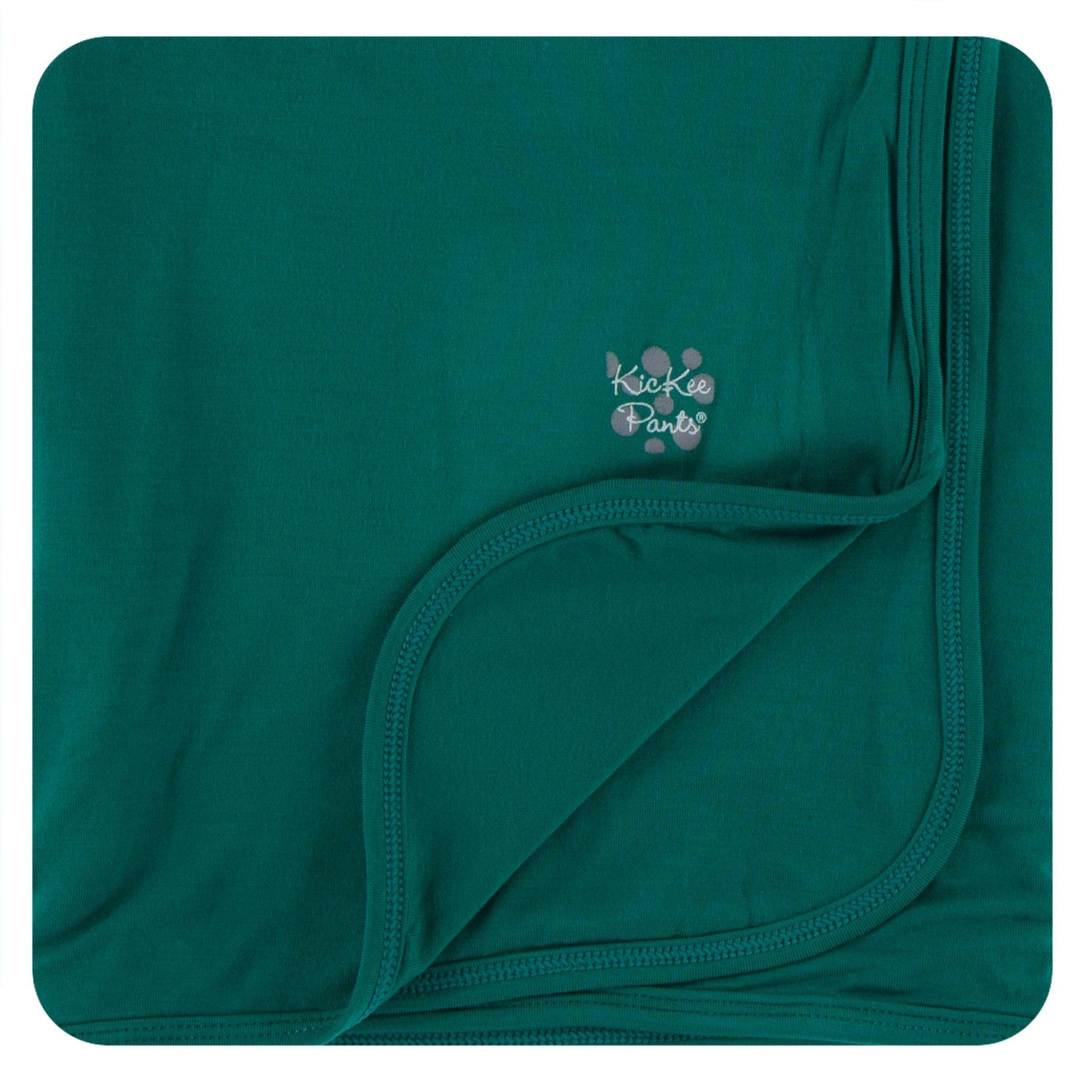 Kickee Pants Solid Stroller Blanket Pine - One Size