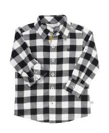 RuggedButts Button Down Shirt - Black & White Plaid