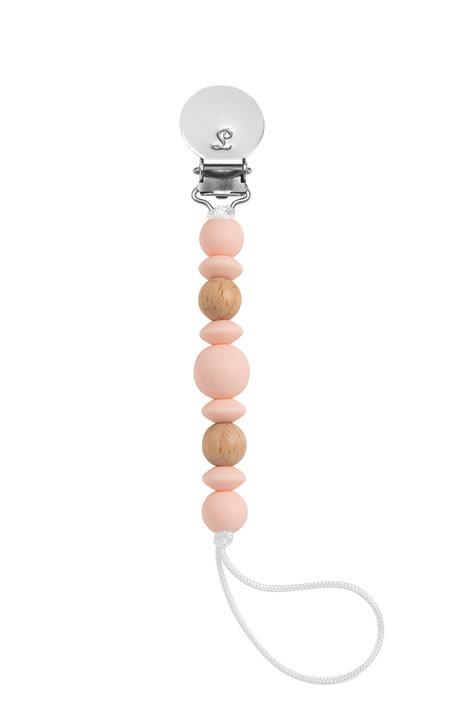 Lou Lou Lollipop Luna Pacifier Clip - Pink Salt