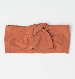Lou Lou Lollipop Knotted Headband in TENCEL - Umbra 0-6 M