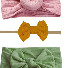 Emerson and Friends Spring Mustard Headband Set