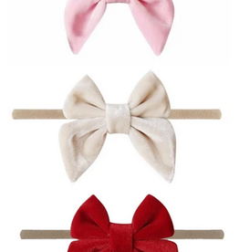 Emerson and Friends Valentine's Day Velvet Headband Set