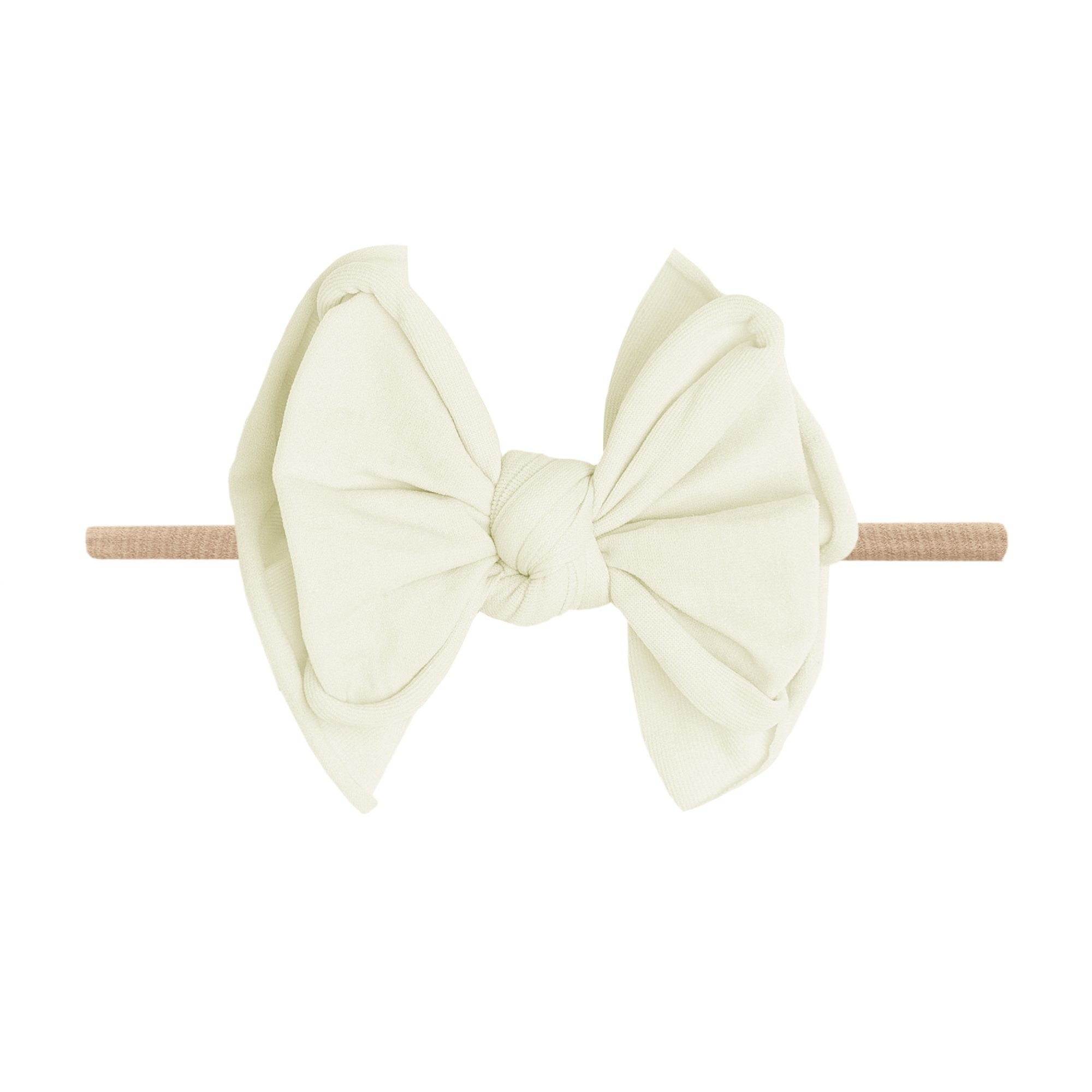 Baby Bling Bows FAB-BOW-LOUS Skinny:  Ivory