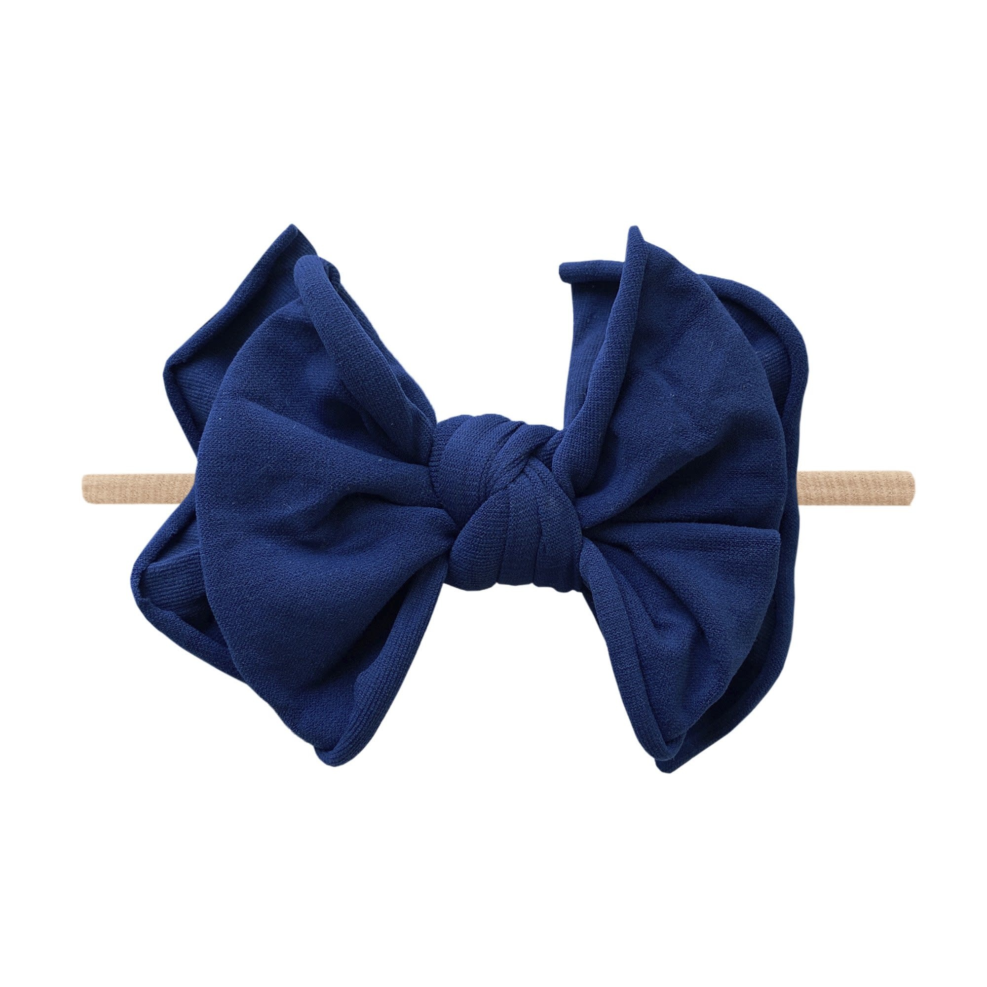 Baby Bling Bows FAB-BOW-LOUS Skinny:  Navy