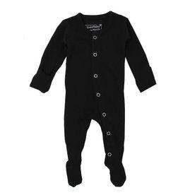 Loved Baby Organic Footie Black