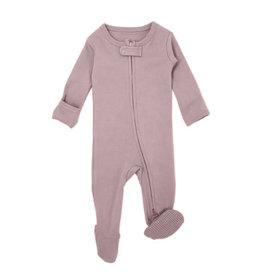 Loved Baby Organic Zipper Footie Lavender