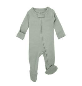 Loved Baby Organic Zipper Footie Seafoam