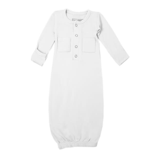 Loved Baby Organic Gown White