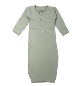 Loved Baby Organic Gown Seafoam