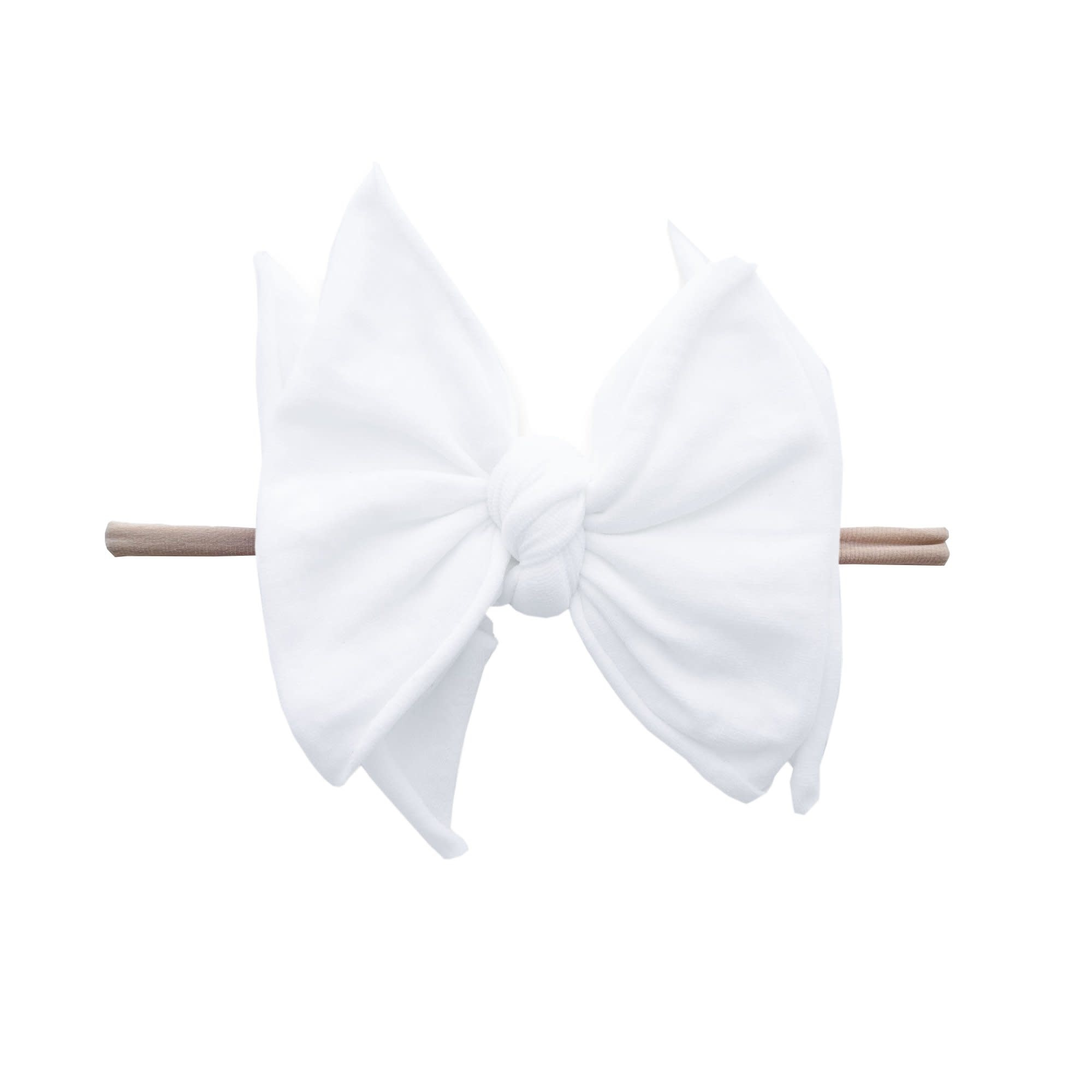 Baby Bling Bows FAB-BOW-LOUS Skinny:  White