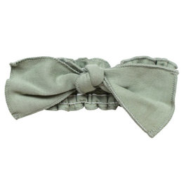 Loved Baby Organic Smocked Tie Headband Seafoam