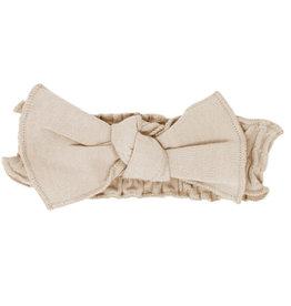 Loved Baby Organic Smocked Tie Headband Oatmeal