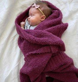 """Saranoni Receiving Blanket (30"""" x 40"""") Deep Rose Bamboni"""