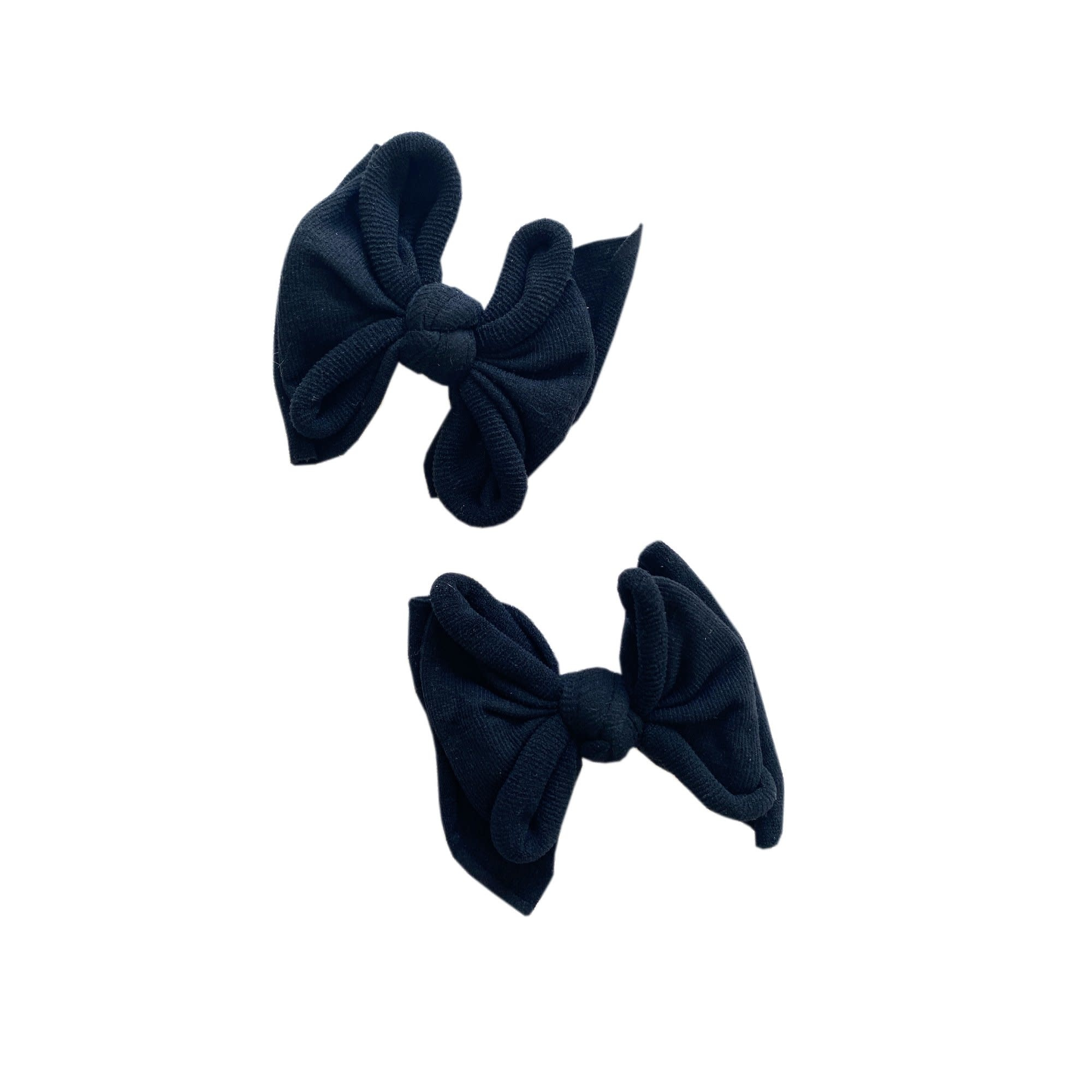 Baby Bling Bows 2pk Baby Fab Clip: Black
