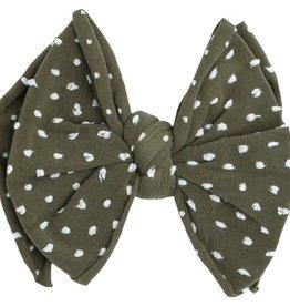 Baby Bling Bows SHAB-BOW-LOUS CLIP:  Artichoke dot